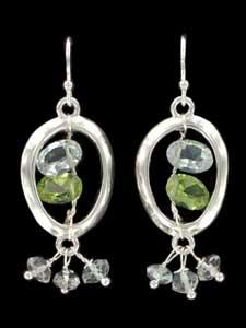 Marie DiMasi Circle Window Earrings in stock